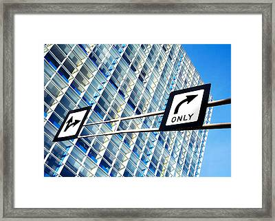Business Decisions Framed Print by Todd Klassy