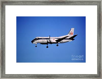 Business Express, Delta Connection, N353be, Bex Saab 340b Framed Print