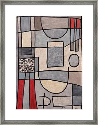 Business Face Framed Print by Sigalit Butterfly Benjamin