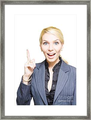 Business Idea Framed Print by Jorgo Photography - Wall Art Gallery