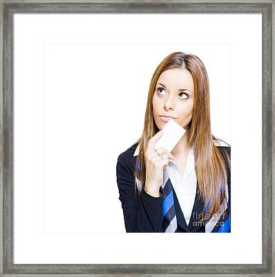 Business Idea Vision And Innovation Solution Framed Print