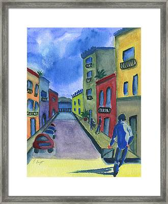 Business In Old San Juan Framed Print by Frank Bright