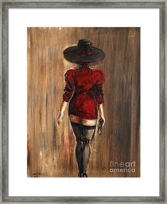 Business Lady Framed Print