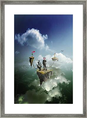 Business Man Framed Print by Nathan Wright