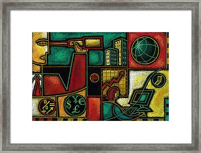 Business Planning Framed Print by Leon Zernitsky