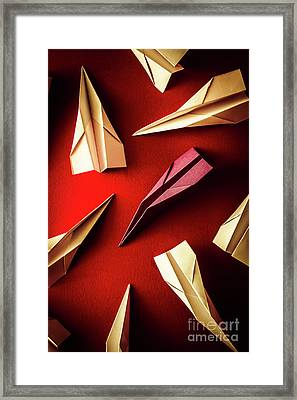 Business Still Life With A Creative Difference  Framed Print