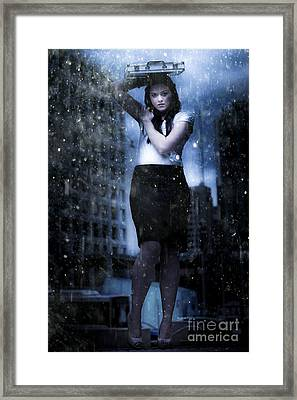 Business Storm Framed Print by Jorgo Photography - Wall Art Gallery