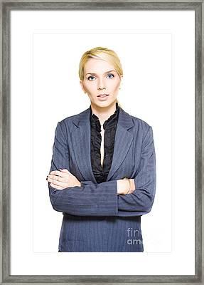 Business Stress Framed Print