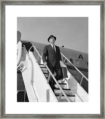 Businessman Deplaning Framed Print by H. Armstrong Roberts/ClassicStock