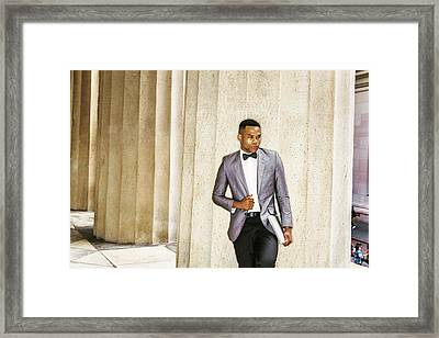 Black Businessman Framed Print