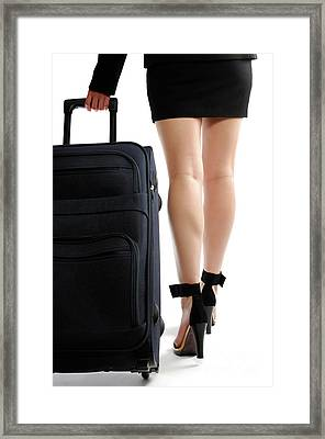 Businesswoman With A Trunk Framed Print by Oleksiy Maksymenko