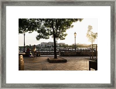 Buskin On The Danube Framed Print by Sharon Popek