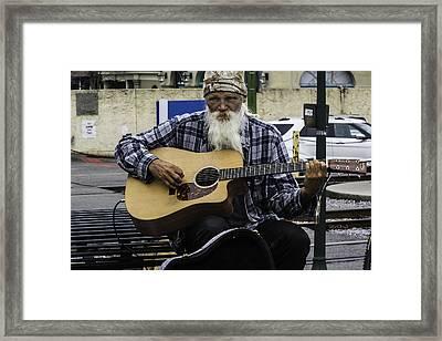 Busking In New Orleans, Louisiana Framed Print