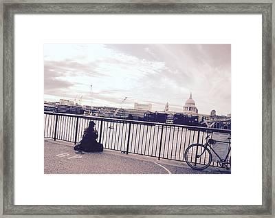 Busking Place Framed Print