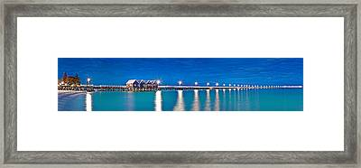 Busselton Jetty Full Length Panorama Framed Print
