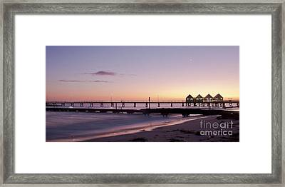 Framed Print featuring the photograph Busselton Jetty Sunrise by Ivy Ho
