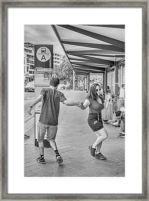 Busstop Boogie No 2 Framed Print