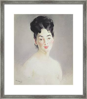 Bust Of A Young Female Nude Framed Print by Edouard Manet