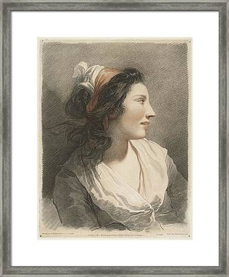 Bust Of Young Woman With Headscarf Framed Print