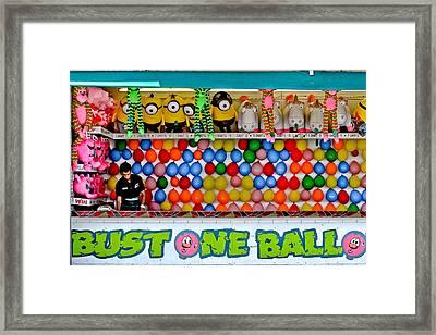 Bust One Balloon Framed Print