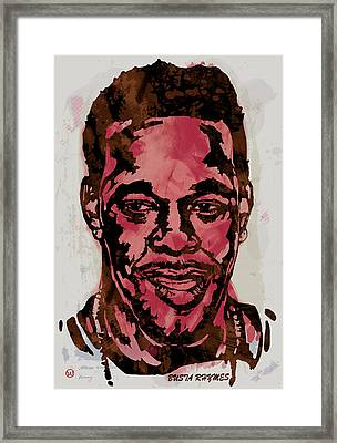 Busta Rhymes Pop Stylised Art Sketch Poster Framed Print by Kim Wang