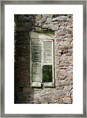 Framed Print featuring the photograph Busted Shutter In The Shaddows  by Bill Cannon