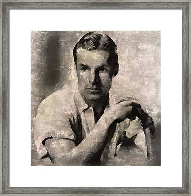 Buster Crabbe, Actor Framed Print by Mary Bassett