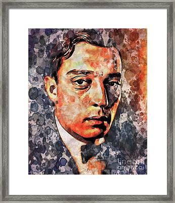 Buster Keaton By Mary Bassett Framed Print