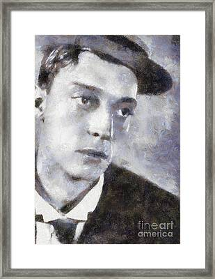 Buster Keaton By Sarah Kirk Framed Print