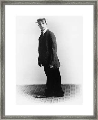 Buster Keaton, Ca. Late 1910s Framed Print