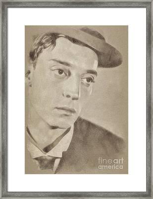 Buster Keaton, Hollywood Legend By John Springfield Framed Print