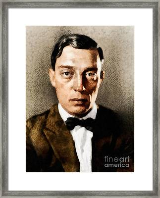 Buster Keaton, Hollywood Legend Framed Print