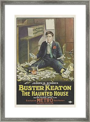 Buster Keaton In The Haunted House 1921 Framed Print