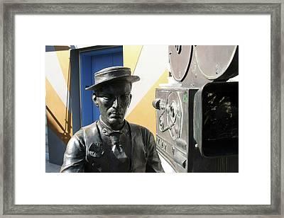Buster Keaton On Camera Framed Print