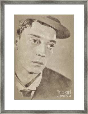 Buster Keaton, Vintage Comedy Actor Framed Print