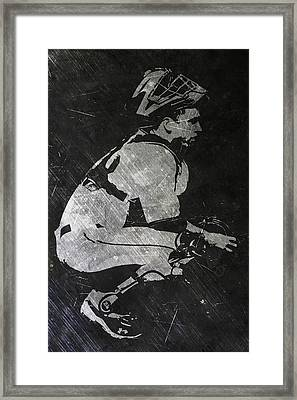 Buster Posey San Francisco Giants Art Framed Print by Joe Hamilton