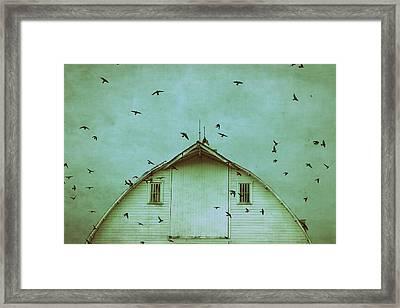 Busy Barn Framed Print by Julie Hamilton