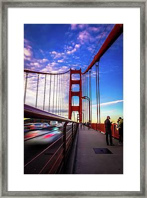 Busy Bay Bridge Framed Print