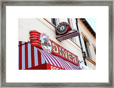 Busy Bee Cafe Framed Print