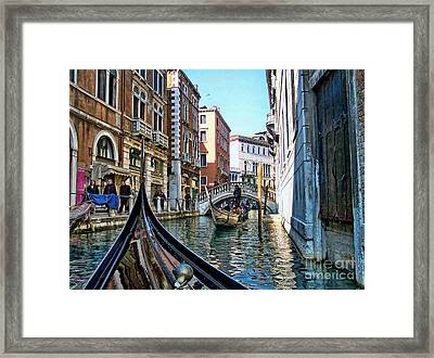 Framed Print featuring the photograph Busy Canal by Roberta Byram