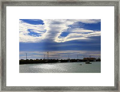 Framed Print featuring the photograph Busy Day At The Wharf by Nareeta Martin