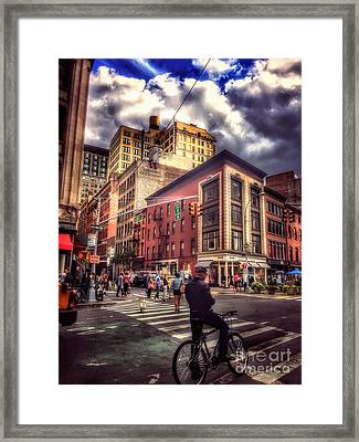 Busy Day In The City Framed Print