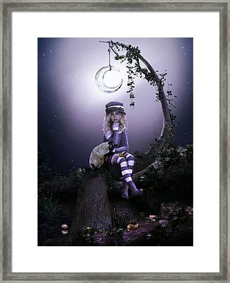 Framed Print featuring the digital art Busy Doing Nothing by Shanina Conway