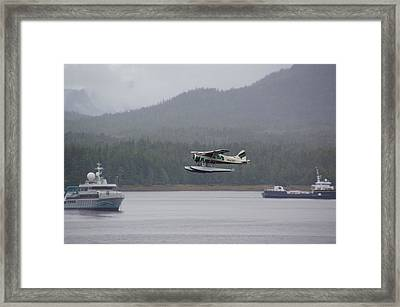 Busy Harbor Framed Print by Bj Hodges