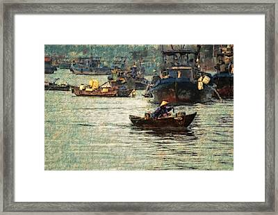 Framed Print featuring the digital art Busy Hoi Ahn Dawn by Cameron Wood