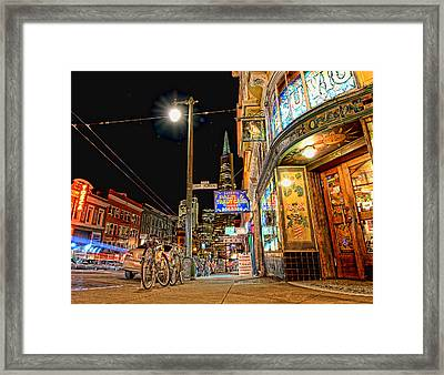 Busy View Northbeach San Francisco Framed Print