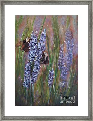 Busy Work Framed Print by Debbie Harding