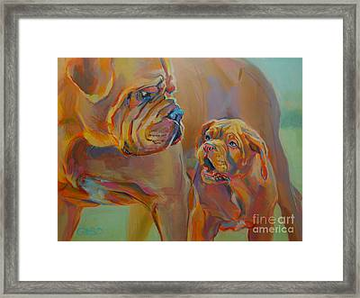 But Mom Framed Print