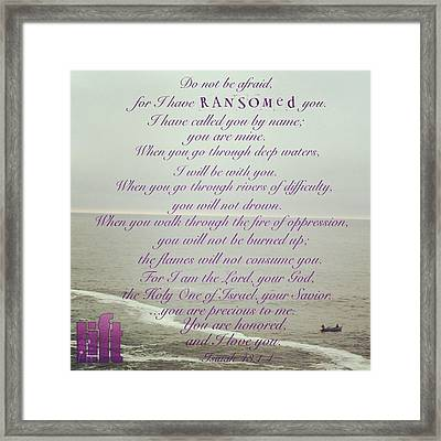 But Now, O Jacob, Listen To The Lord Framed Print