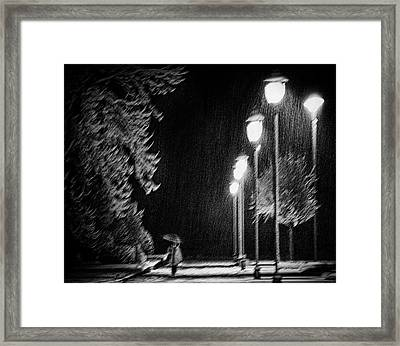 But The Night Is Still Young Framed Print by Samanta